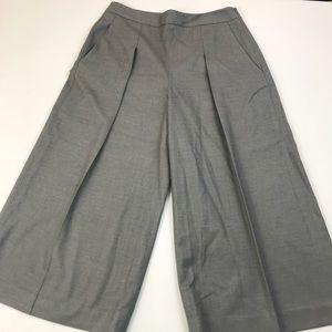 Chelsea28 Gray Wide Leg Gaucho Pants Career Sz 4 U